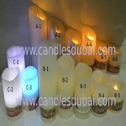 LED Flameless Wax Candles Hotels Boutiques Clinics