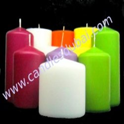 Color Pillar Scented Candles.