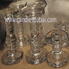 Glass Pillar Candle Holders.