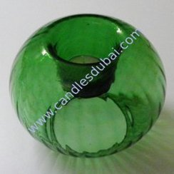 Tea Light Candle Holders Glass Hand Blown.