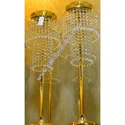 Candle Holders in Antique Gold and Glass Finish.