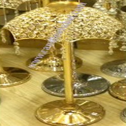 Candle Holders Gold Gold Finish.