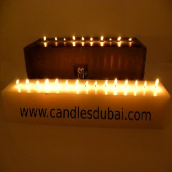 Earth Hour Horizontal Candles-Black & White XL