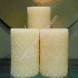 Designer Floral Pillar Candles