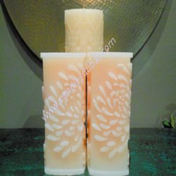 floral-design-sqaure-chamfed-color-pillar-candles