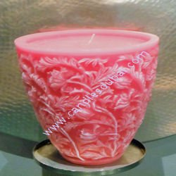 Designer Floral Glass Shaped Candles