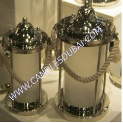 Hurricane Candle Holders With Lid.