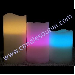 Multicolor LED Flameless Candles
