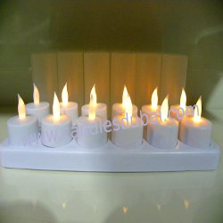 LED Rechargeable Flameless Candles Hotels Restaurants Spa